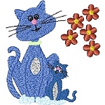 Link to the Crazy Cats 2 embroidery design collection