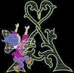 Link to the Fairy Alphabeth uppercase embroidery designs