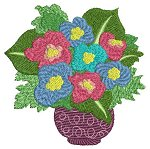 Link to the Flower Bouquets embroidery design collection