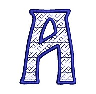 Embroidered letter A - big