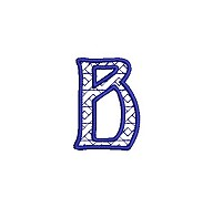 Embroidered letter b - small