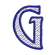 Embroidered letter G - big