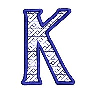 Embroidered letter K - big