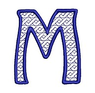 Embroidered letter M - big