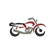 Motor cycle embroidery design