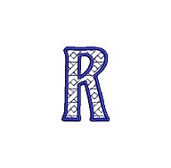 Embroidered letter R - small