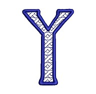 Embroidered letter Y - big