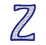Embroidered letter Z - big