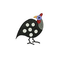 Guinea fowl embroidery design no 1 small.