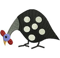 Guinea fowl embroidery design no 2.
