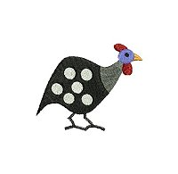 Guinea fowl embroidery design no 3 small.