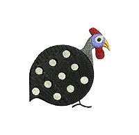 Guinea fowl embroidery design no 4 small.