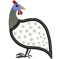 Guinea fowl embroidery design no 5.