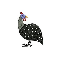 Guinea fowl embroidery design no 5 small.