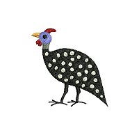 Guinea fowl embroidery design no 7 small.
