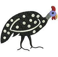 Guinea fowl embroidery design no 8.