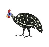 Guinea fowl embroidery design no 8 small.