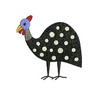 Guinea fowl embroidery design no 9 small.