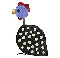 Guinea fowl embroidery design no 10.