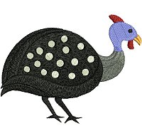 IGuinea fowl embroidery design no 12.