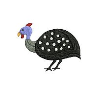 Guinea fowl embroidery design no 12 small.