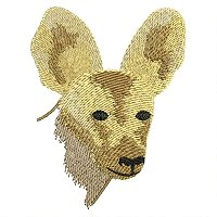 African Wild Dog embroidery design.