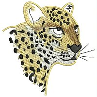 Leopard embroidery design.