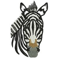 Zebra embroidery design.