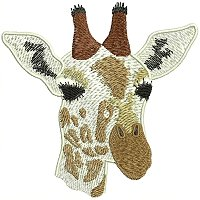 Giraffe embroidery design.