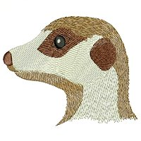 Meerkat embroidery design.