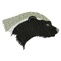 Badger embroidery design.