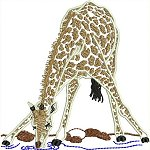 Link to the African animal outline embroidery designs
