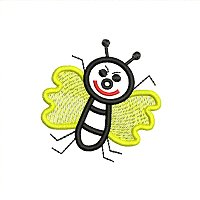 embroidery design of a bee for little kids.jpg