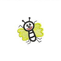 Small embroidery design of a bee for little kids.jpg