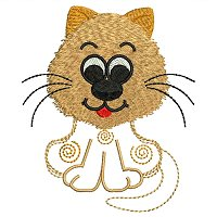 Embroidery design of a cat for little kids.jpg