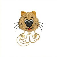 Small embroidery design of a cat for little kids.jpg