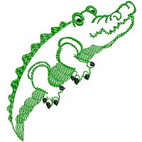 Embroidery design of a crocodile for little kids.jpg