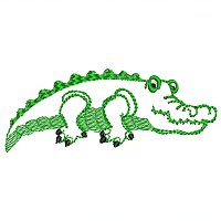 Small embroidery design of a crocodile for little kids.jpg