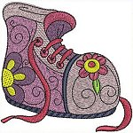 Sneackers machine embroidery designs