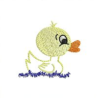 Small embroidery design of a duckling for little children.jpg