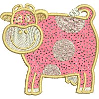 Image of petfarmcow1applique200.jpg