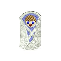 Finger puppet embroidery design collection.