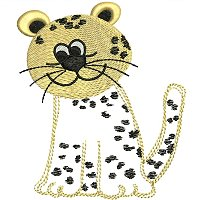 Embroidery design of a leopard for little kids.jpg