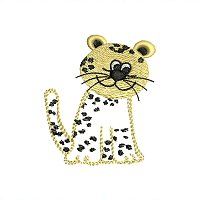 Small embroidery design of a leopard for little kids.jpg