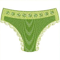 Green panty embroidery design.