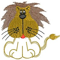 Embroidery design of a lion for little kids.jpg