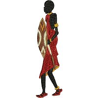 Embroidery design of a Maasai man with his shield.jpg