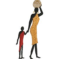 Embroidery design of a Maasai women with her child.jpg