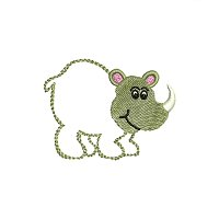 Small embroidery design of a rhino for little kids.jpg