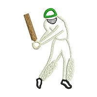 Embroidery design of a cricket player.jpg